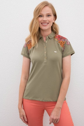 U.S. Polo Assn. Yeşil Kadin T-Shirt