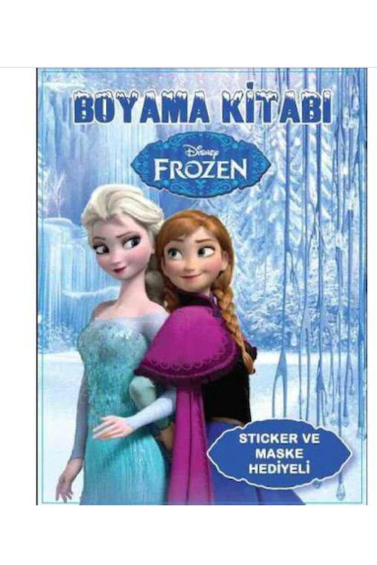Elif Frozen Karlar Ülkesi Sticker ve Maskeli Boyama Kitabı 10 Adet 1