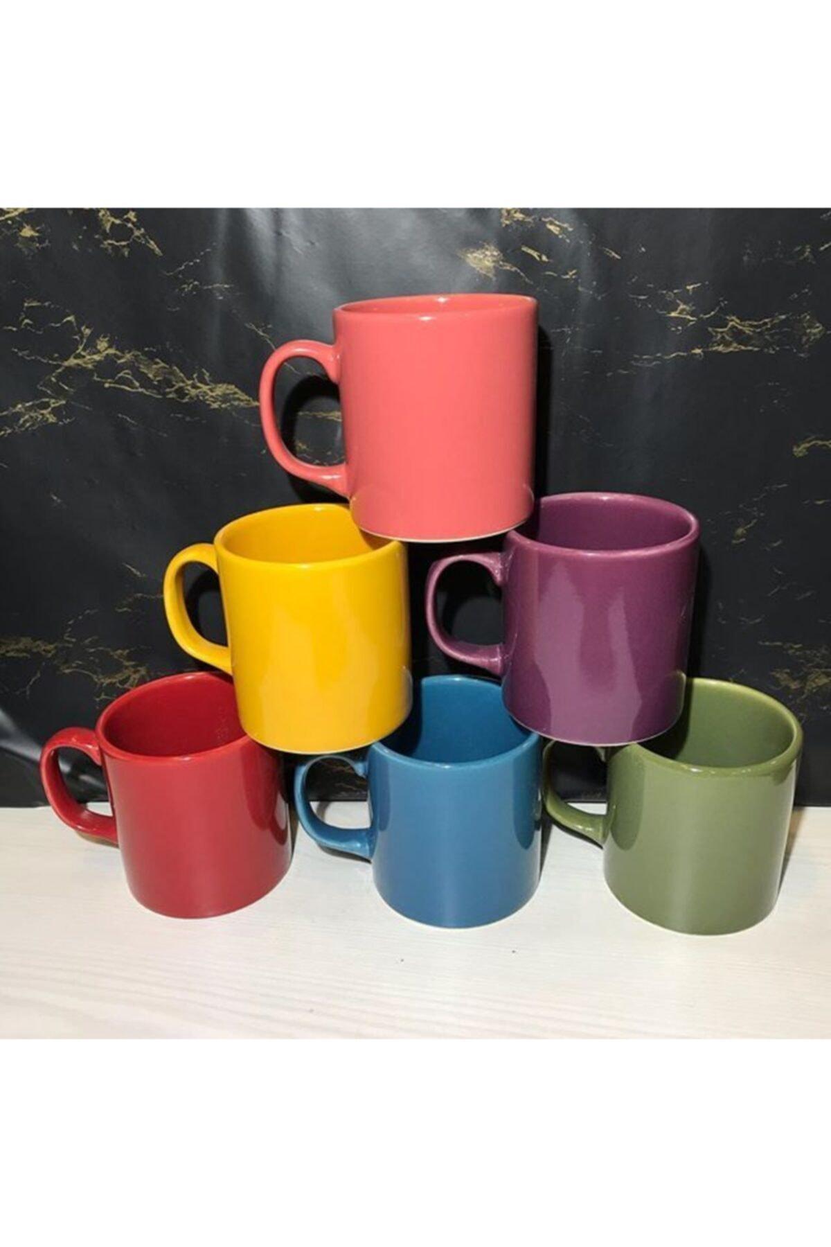 Keramika Renkli Kupa Bardağı 1 Adet 1
