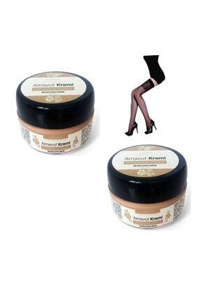 Daymod Whitening Cream Arnavut Kremi(2x50ml)2 Adet & Elegance Desenli Jartiyer Çorabı Ile
