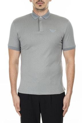 Emporio Armani Erkek  Gri  Düğmeli Polo T Shirt Polo 3h1f89 1j30z 0653