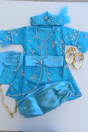 Alis Kız Bebek Mavi Bindallı Mevlüt Elbise