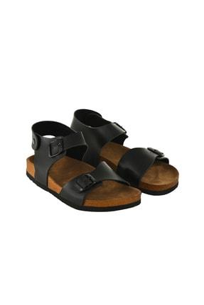 JustBow Unisex Siyah Sandalet