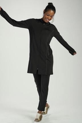 Runever Kadın Siyah Antrasit Tunik Takım