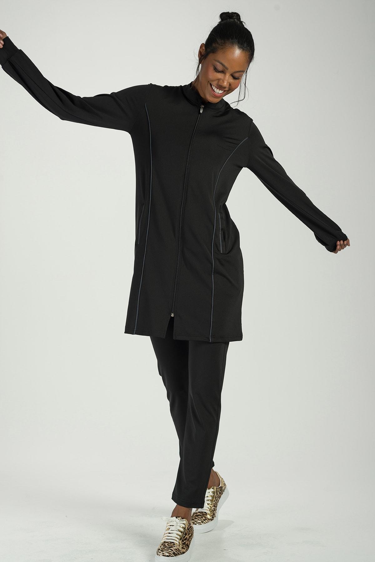 Runever Kadın Siyah Antrasit Tunik Takım 1