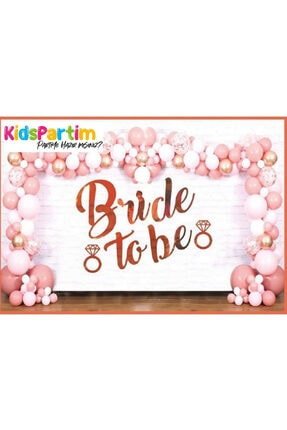 kidspartim Bride To Be Uzar Yazı Banner Rose Gold