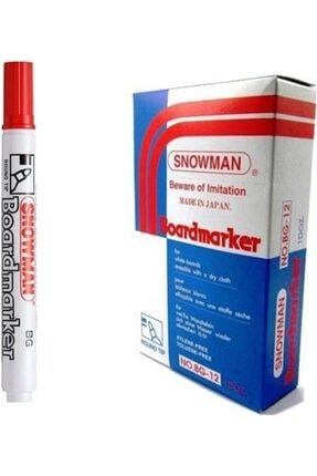 Snowman 12 Adet Kırmızı Tahta Kalemi Yazı Tahtası Kalemi
