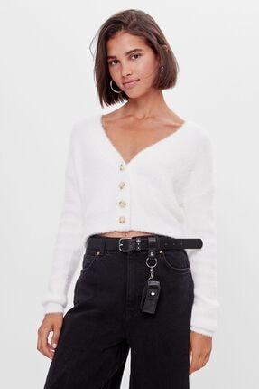 Bershka Kadın Krem Düğmeli  Ceket
