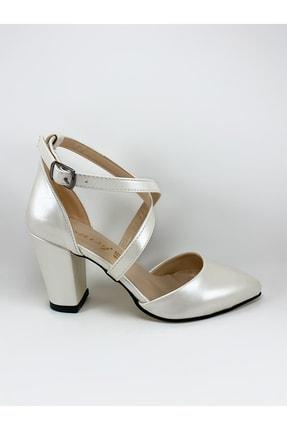 Daisy Kadın Beyaz Çapraz Bantlı Stiletto Topuklu Ayakkabı