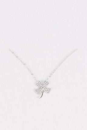 esjewelry Kadın 4 Yapraklı Yonca Model Gümüş Kolye