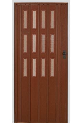 SARPAŞ Katlanır Akordiyon Pvc Tek Kapı Camlı 72x217 Ceviz