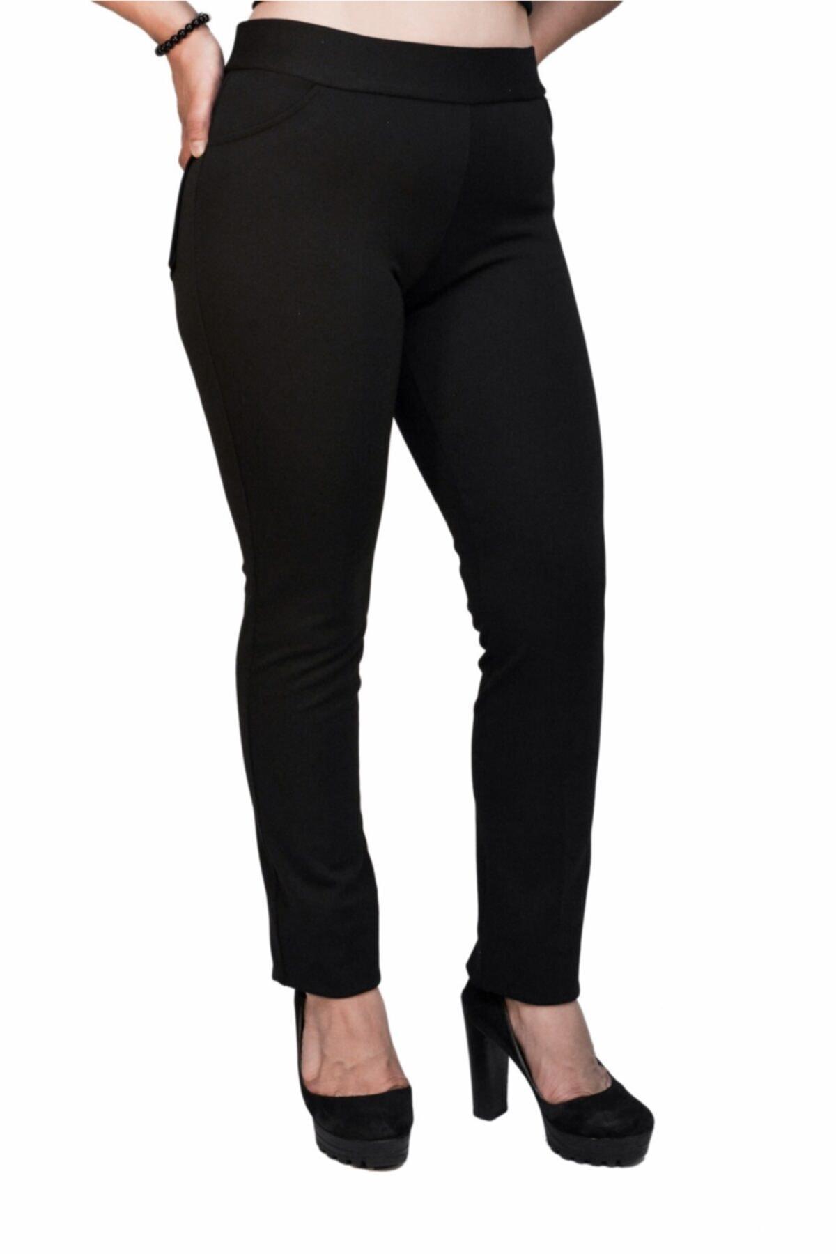 Otto Kadın Siyah Tayt Pantalon 1