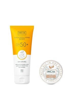 Incia Incıa %100 Doğal Vücut Güneş Kremi Spf 50 Kofre 150 Ml