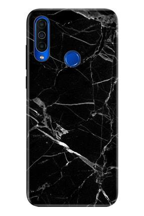 Cekuonline Meizu M10 Mermer Siyah Temalı Resimli Silikon Telefon Kılıfı
