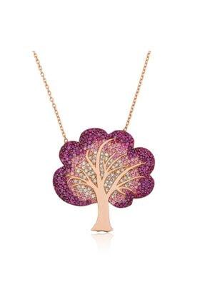 Gumush Gümüş Hayat Ağacı Bayan Kolye