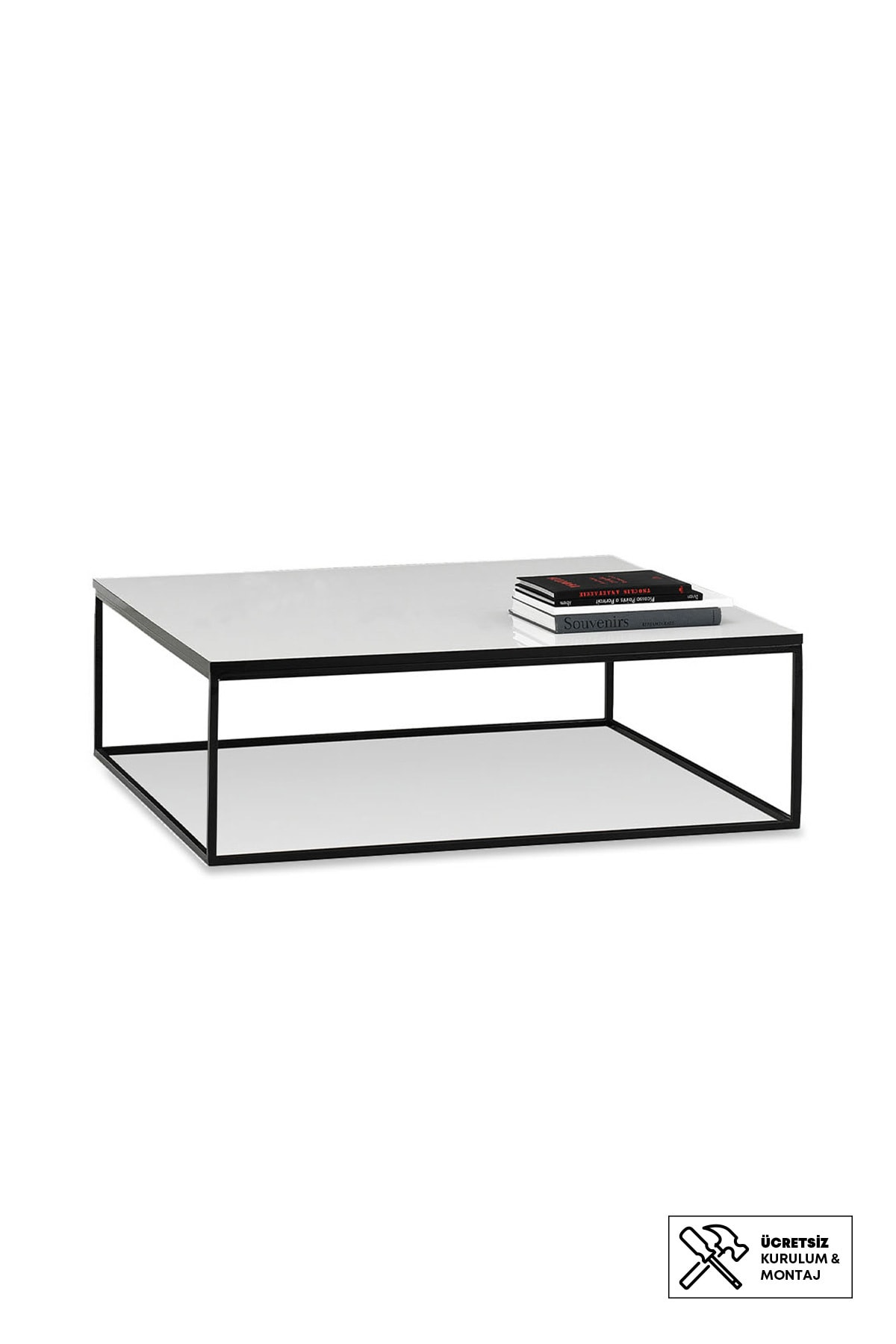 Enza Home CRYSTAL Kare Orta Sehpa (110x110 cm)