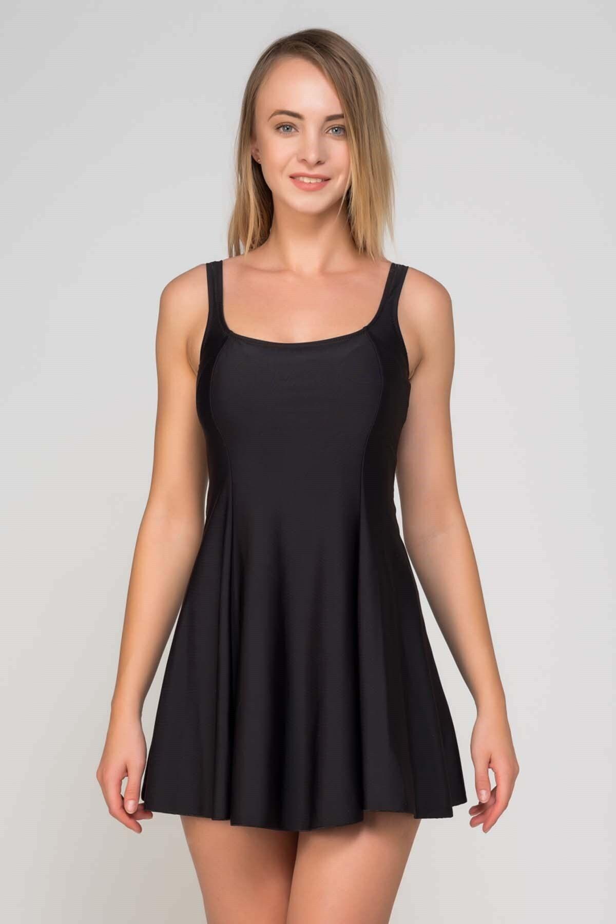 CAMASIRCITY Kadın Siyah Elbise Mayo 1