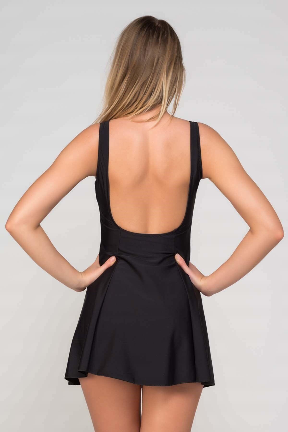 CAMASIRCITY Kadın Siyah Elbise Mayo 2