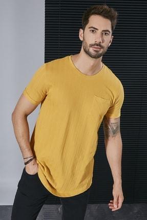 Sateen Men Erkek Sarı Jakarlı Cepli T-Shirt