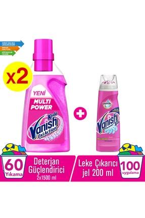 Vanish multipower 1500 ml Deterjan Güçlendirici - 2 Adet+Vanish Ön İşlem Leke Çıkarıcı Jel 200 ml