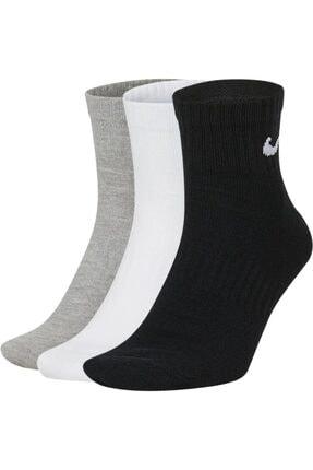 Nike Sx7677-901 U Nk Everyday Ltwt Ankle 3pr 3lü Spor Çorap