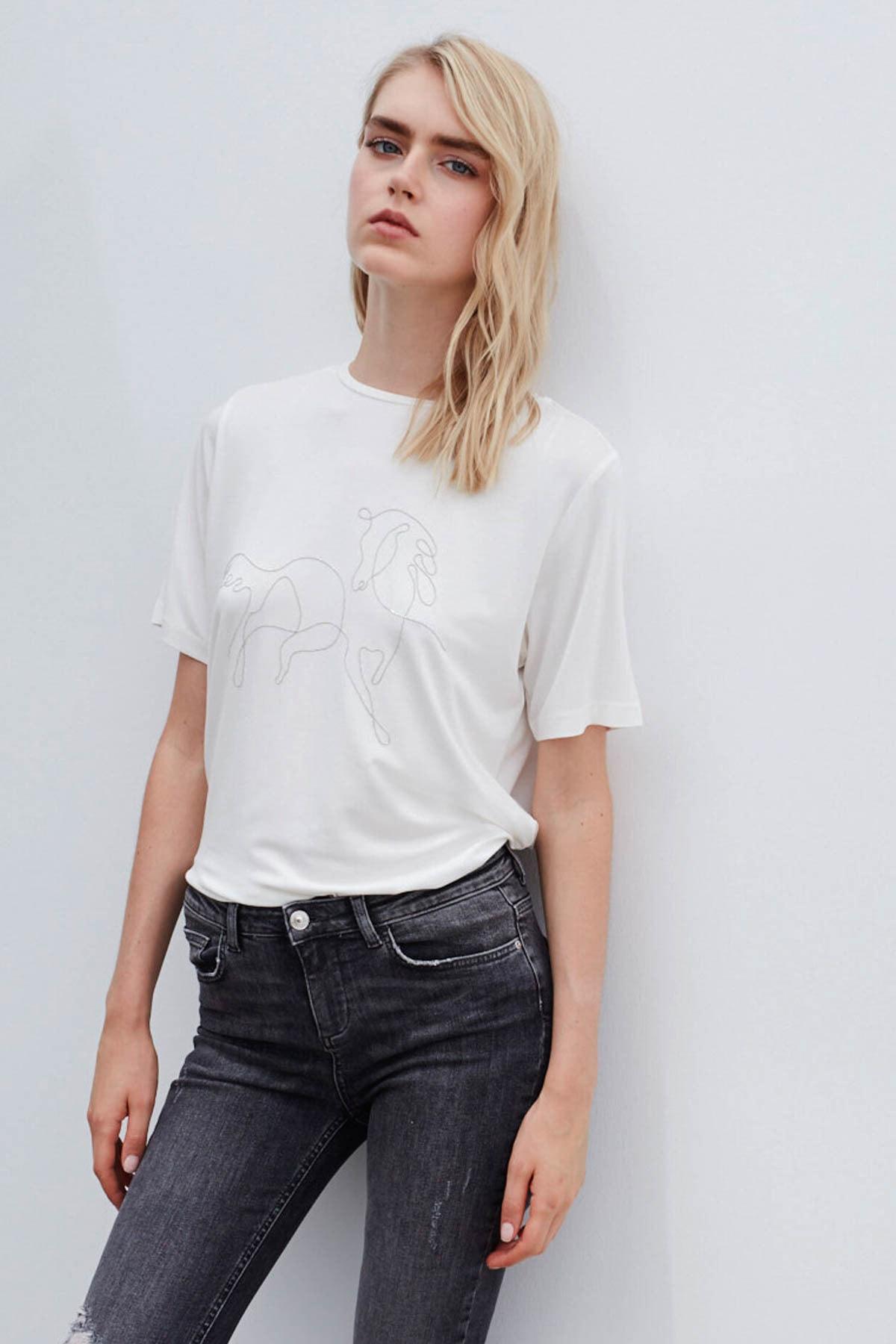 İpekyol Kadın Gri Skinny Fit Jean Pantolon 2
