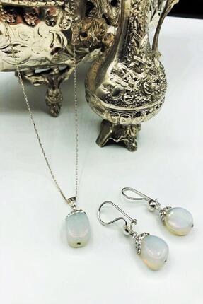 Dr. Stone Harem Koleksiyonu Aytaşı El Yapımı 925 Ayar Gümüş Set Gdr15