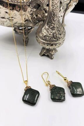 Dr. Stone Harem Koleksiyonu Akik Taşı El Yapımı 925 Ayar Gümüş Set Gdr18