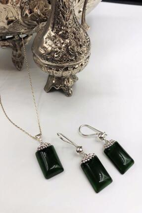 Dr. Stone Harem Koleksiyonu Kedigözü Taşı El Yapımı 925 Ayar Gümüş Set Gdr17