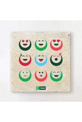 Yeşilay Taş Bardak Altlığı -gülümsemek