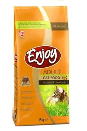 Enjoy Renkli Taneli Tavuklu Yetişkin Kedi Maması 15 Kg