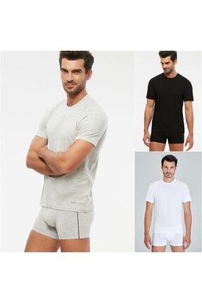 Kom Erkek James Kısa Kollu O Yaka T-shirt 3 Renk