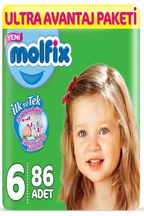 Molfix Bebek Bezi Ultra Avantaj Paketi 6 Numara Xl 15+kg 86Adet