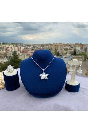 Telkari Dünyası Kadın Zambak Model Gümüş Telkari Üçlü Set