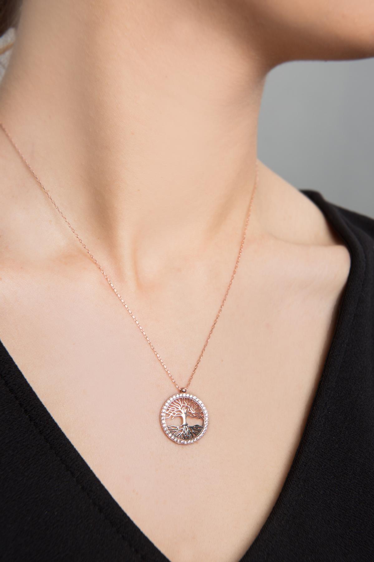 Elika Silver Kadın Hayat Ağacı Model 925 Ayar Gümüş Kolye PP2345 1