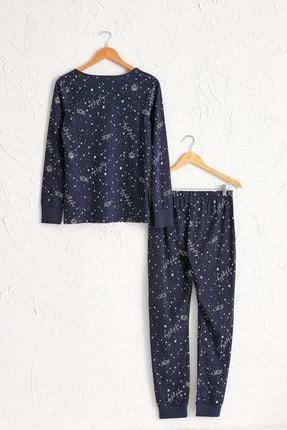 LC Waikiki Kadın Lacivert Baskılı Pijama Takım 0W7595Z8