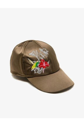 Koton Kadın Haki Şapka 8KAL40010AA