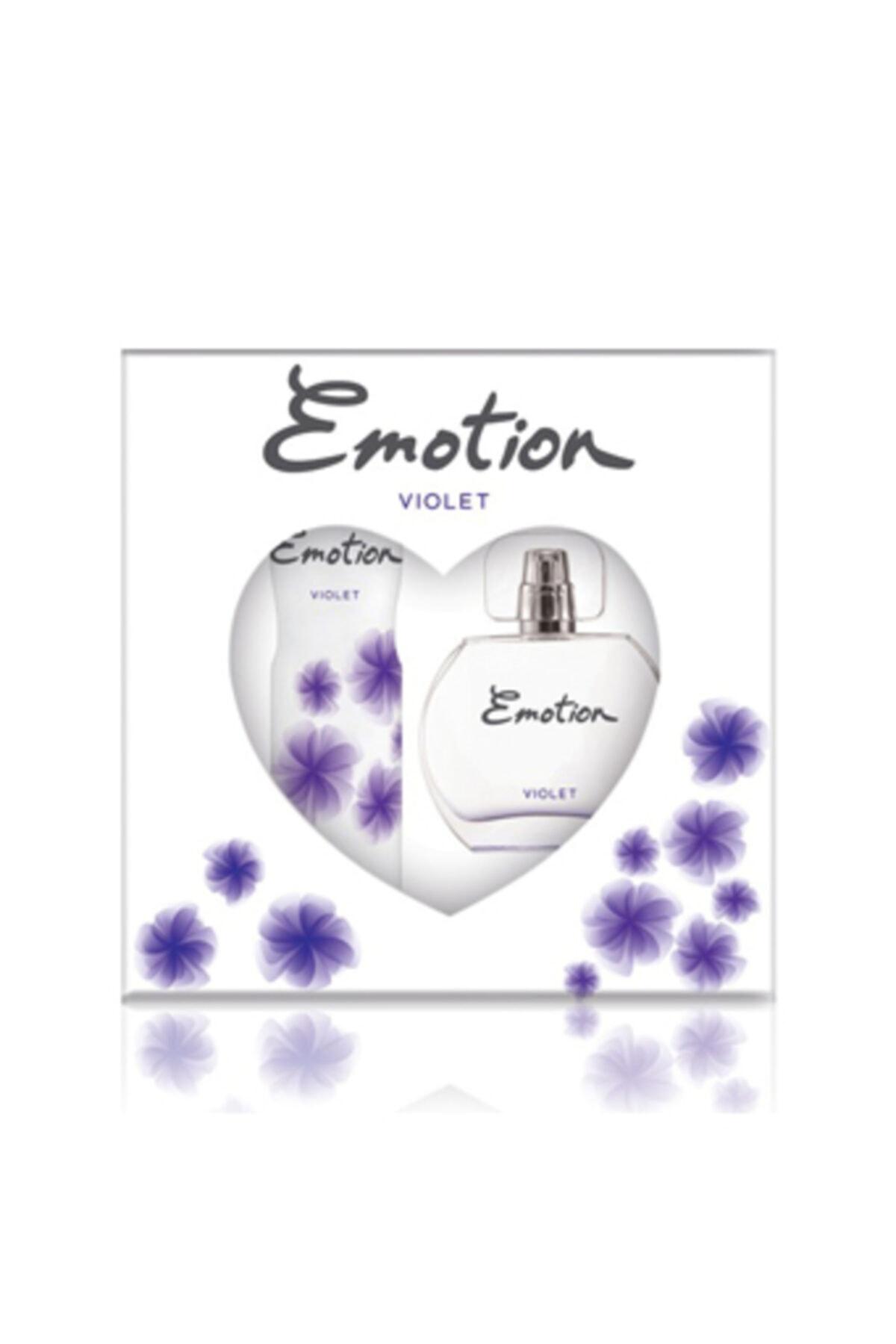 Emotion Violet Kadın Parfüm Edt 50 ml+deodorant 150 ml 1
