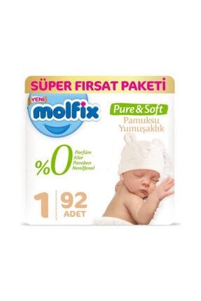 Molfix Pure&soft Bebek Bezi 1 Beden 2-5 kg 92 Adet