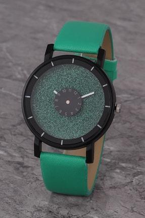Polo55 Plkk017r01 Kadın Saat Yeşil Tasarım Kadran Deri Kordon