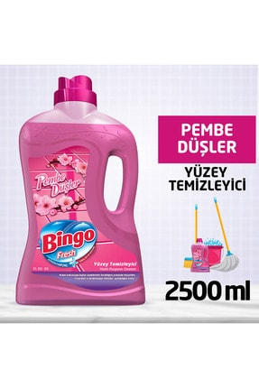 Bingo Fresh Yüzey Temizleyici Pembe Düşler 2.5 lt