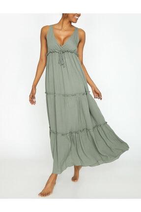 Koton Kadın Açık Yeşil Elbise 9YAK88640BW