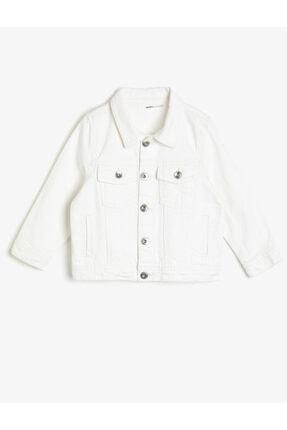 Koton Kids Çocuk Beyaz Dügme Detayli Jean Ceket