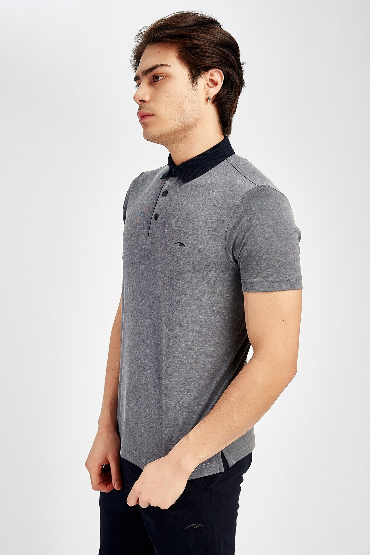 MARATON Erkek Gri Sportswear T-shirt 2