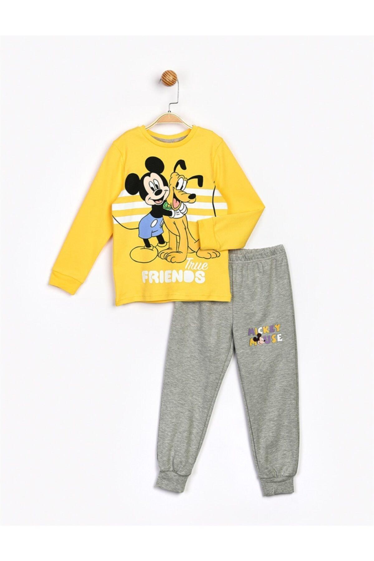 Mickey Mouse Erkek Çocuk Sarı Alt Üst Takım 1