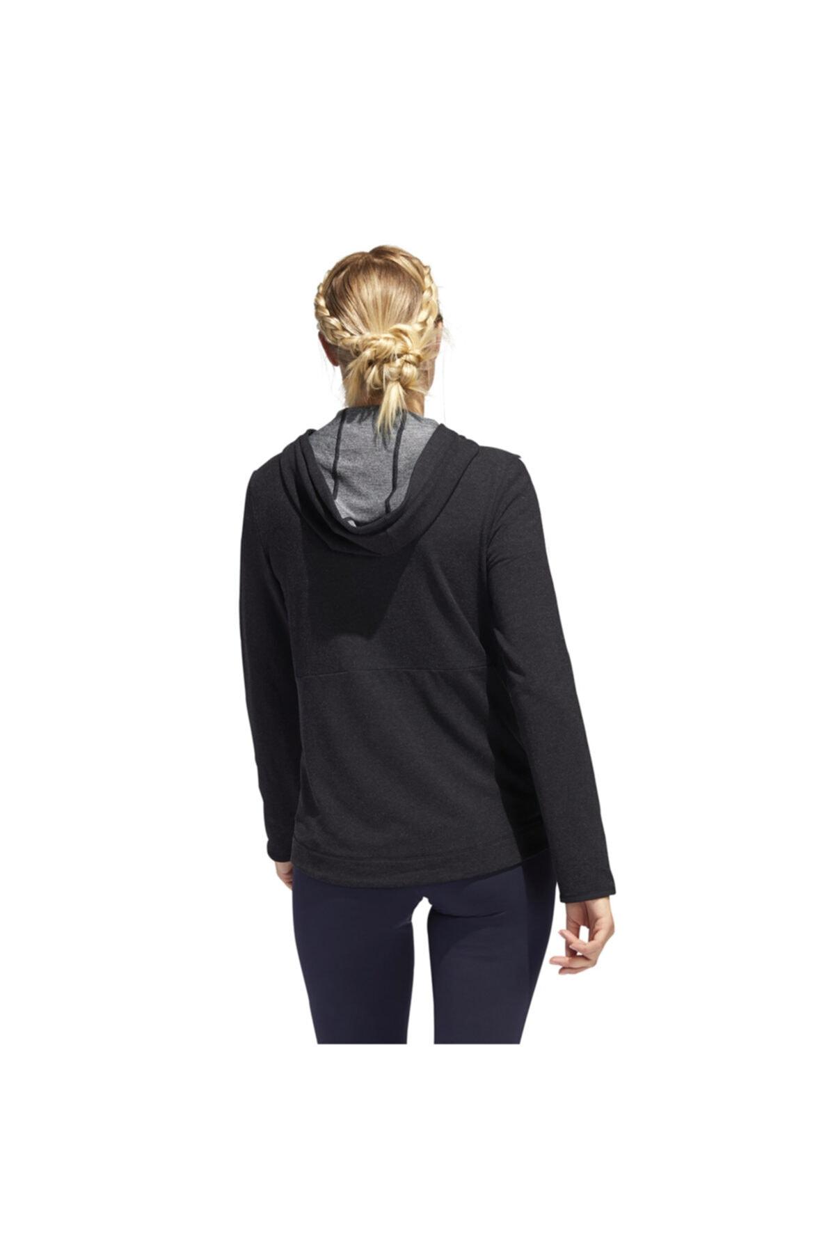 adidas Kadın Siyah 3s Knt Fz Hoody Antrenman Sweatshirt Fj7316 2