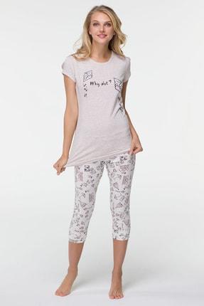 Hays Ribiko Kadın Penye Midi Taytlı Pijama Takım