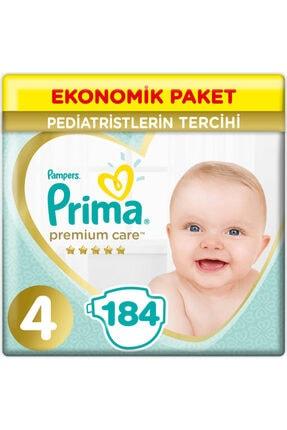 Prima Premium Care 4 Beden Ekonomik Paket 9-14 Kg (4*46) 184 Adet