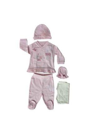 İDİL BABY 6521 Bebek Zıbın Takımı Pembe