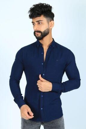 JİYAN Erkek Lacivert Gömlek